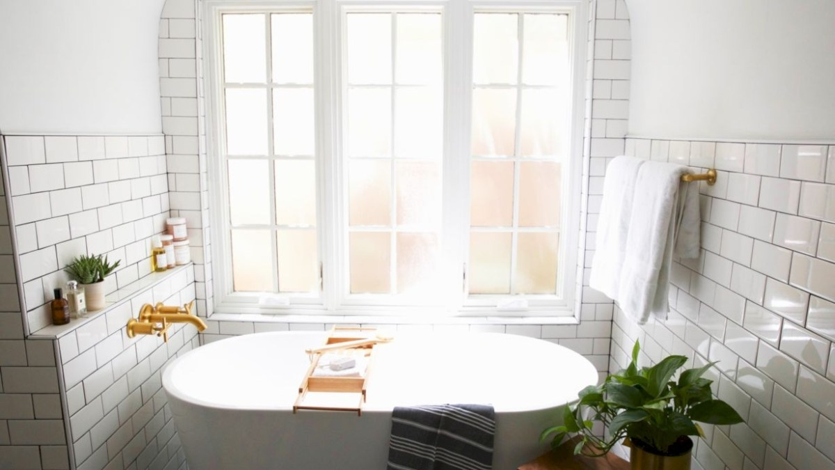 Best modern vintage bathroom reveal 30