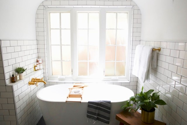 Best modern vintage bathroom reveal 30