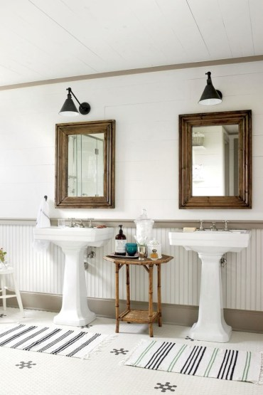 Best modern vintage bathroom reveal 34