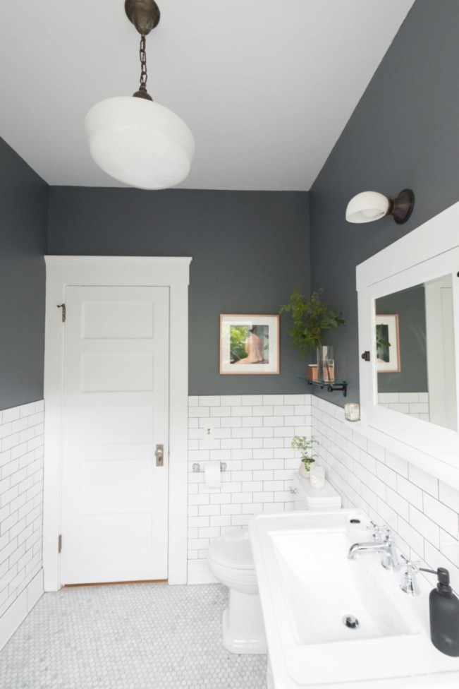 Best modern vintage bathroom reveal 44