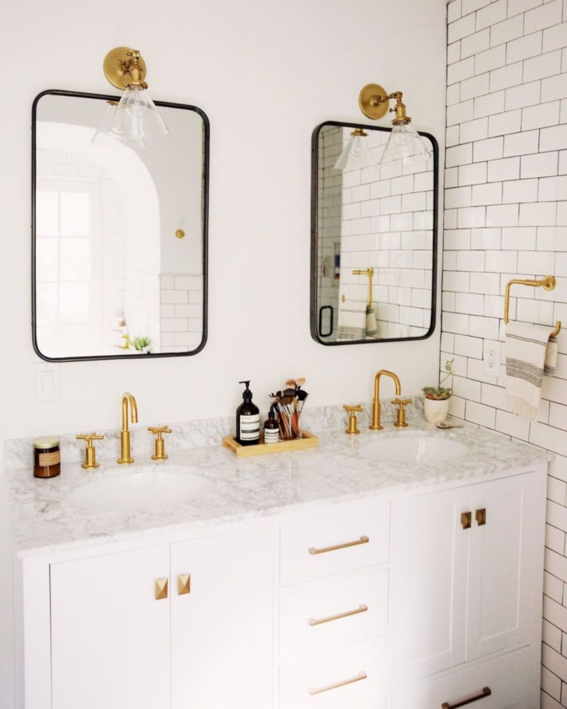 Best modern vintage bathroom reveal 46