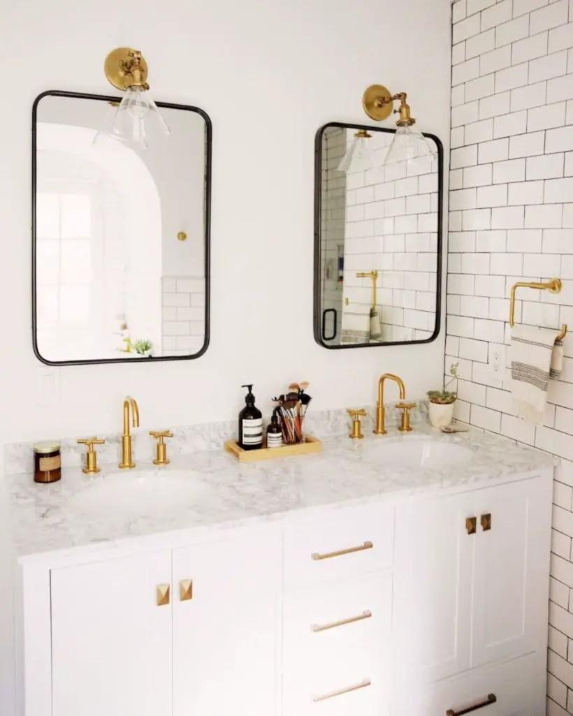 Best modern vintage bathroom reveal 46