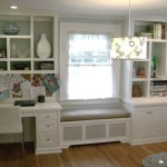 Built-in bench for your basement design ideas 16