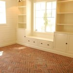Built-in bench for your basement design ideas 17