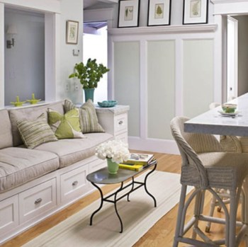 Built-in bench for your basement design ideas 32
