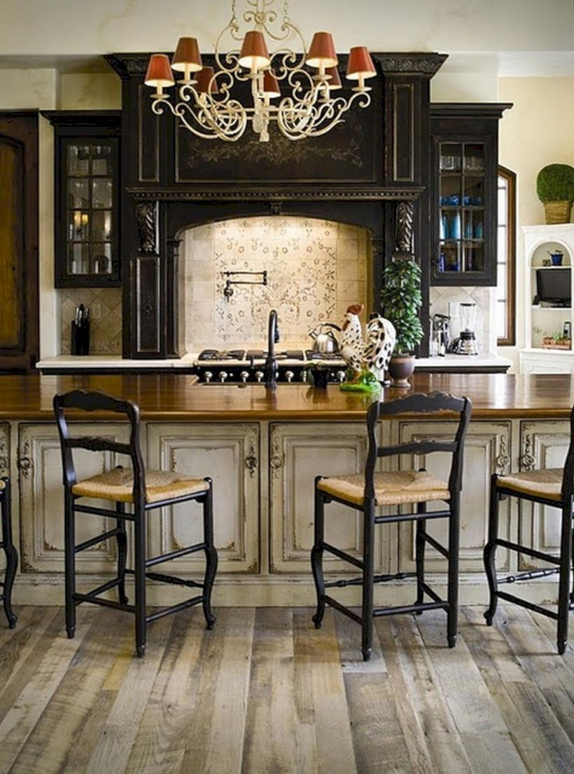 Charming custom kitchens cabinets designs 14