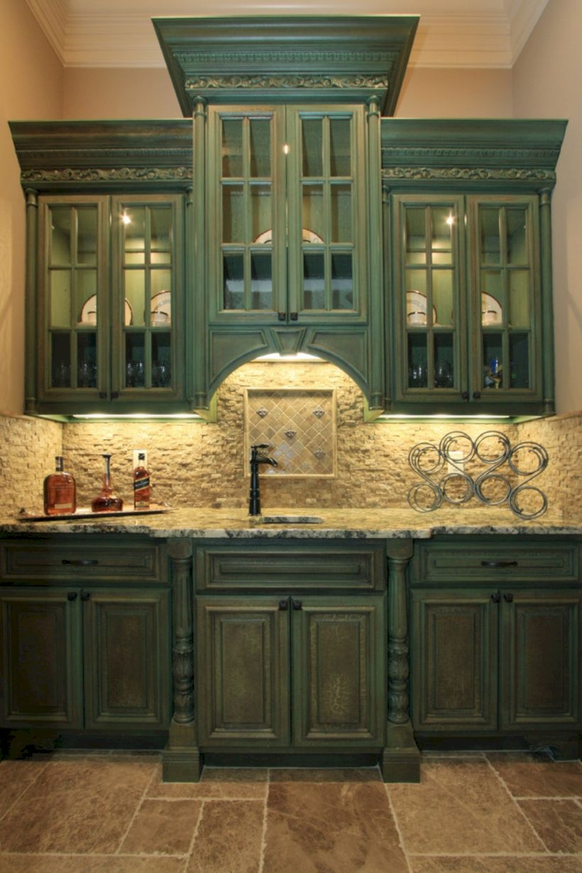 Charming custom kitchens cabinets designs 28