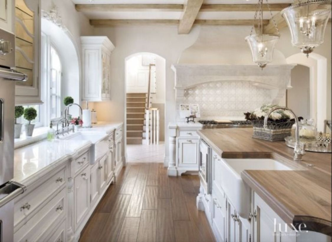 Charming custom kitchens cabinets designs 35