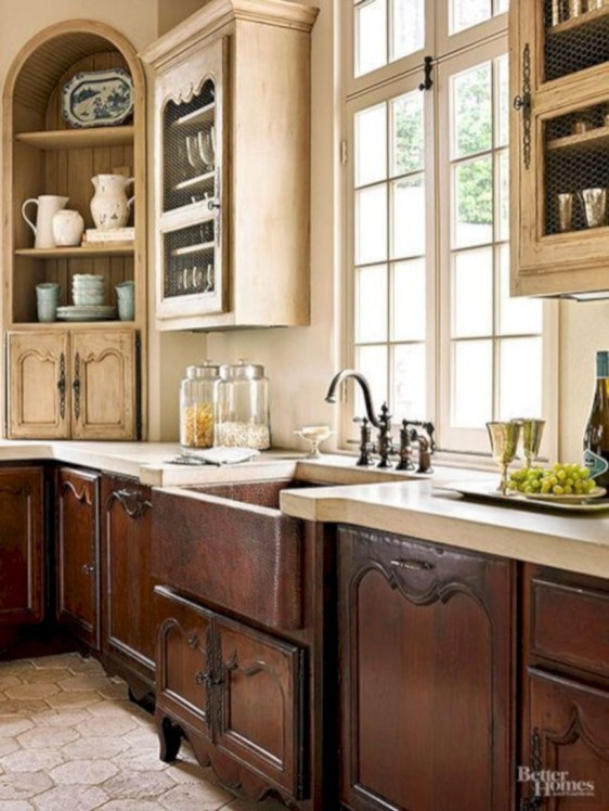 Charming custom kitchens cabinets designs 37