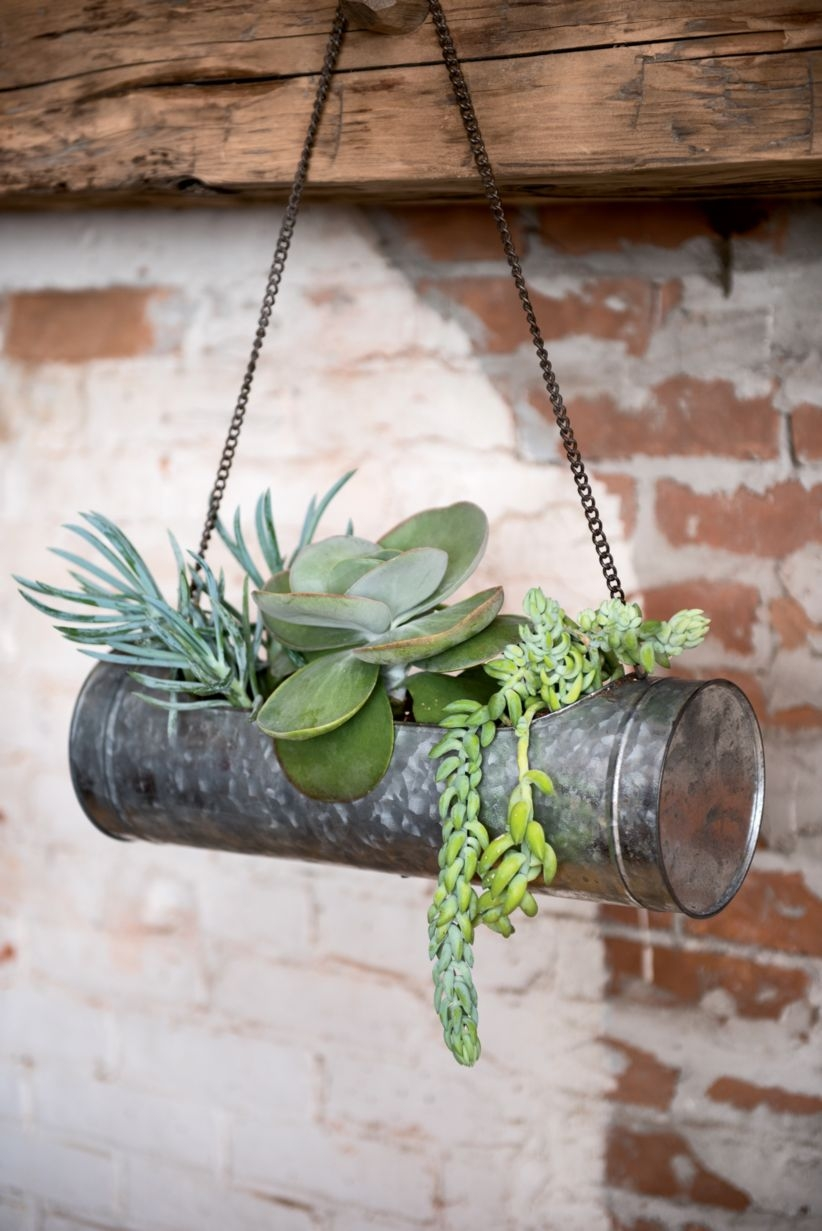 Charming outdoor hanging planters ideas to brighten your yard 14
