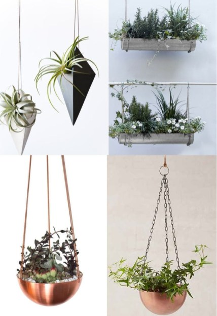 Charming outdoor hanging planters ideas to brighten your yard 20