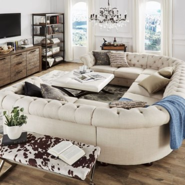 Comfortable sectional sofa for your living room 37