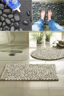 Creative bathroom with soft stone floor to massage your feet 17
