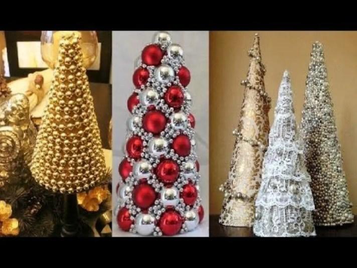 Diy christmas cone trees 02