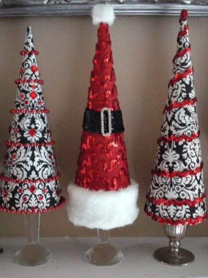 Diy christmas cone trees 04