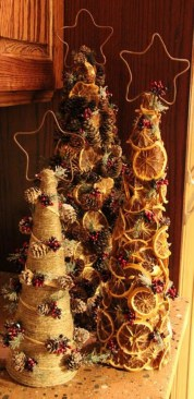 Diy christmas cone trees 09