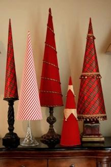 Diy christmas cone trees 16
