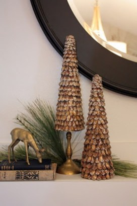 Diy christmas cone trees 19