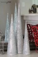 Diy christmas cone trees 23