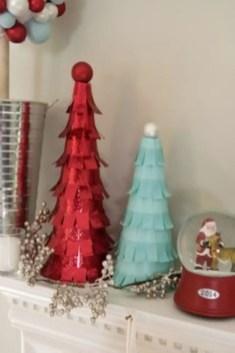 Diy christmas cone trees 31