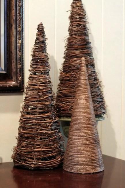 Diy christmas cone trees 35
