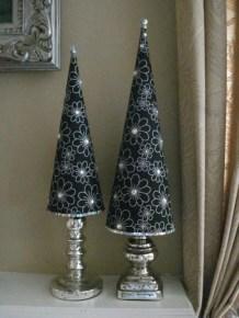 Diy christmas cone trees 36