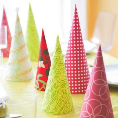 Diy christmas cone trees 45