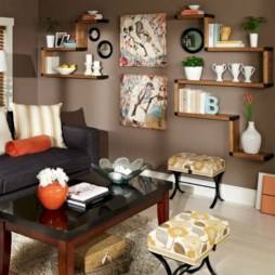 Diy wall shelves ideas for living room decoration 03