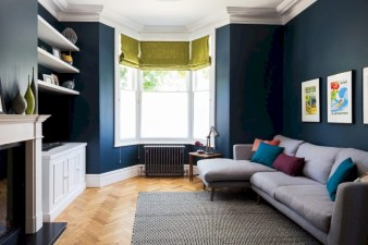 Diy wall shelves ideas for living room decoration 12