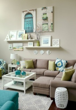 Diy wall shelves ideas for living room decoration 20