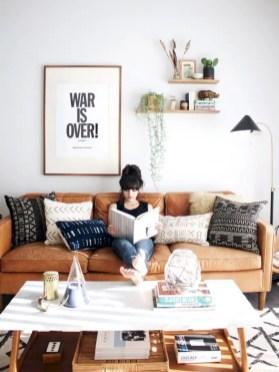 Diy wall shelves ideas for living room decoration 21