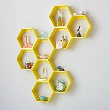 Diy wall shelves ideas for living room decoration 25