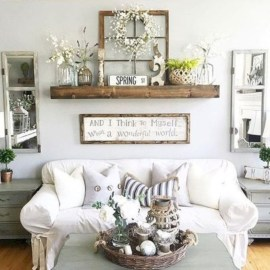 Diy wall shelves ideas for living room decoration 28