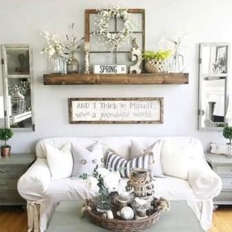 Diy wall shelves ideas for living room decoration 28