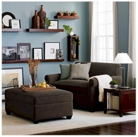 Diy wall shelves ideas for living room decoration 36