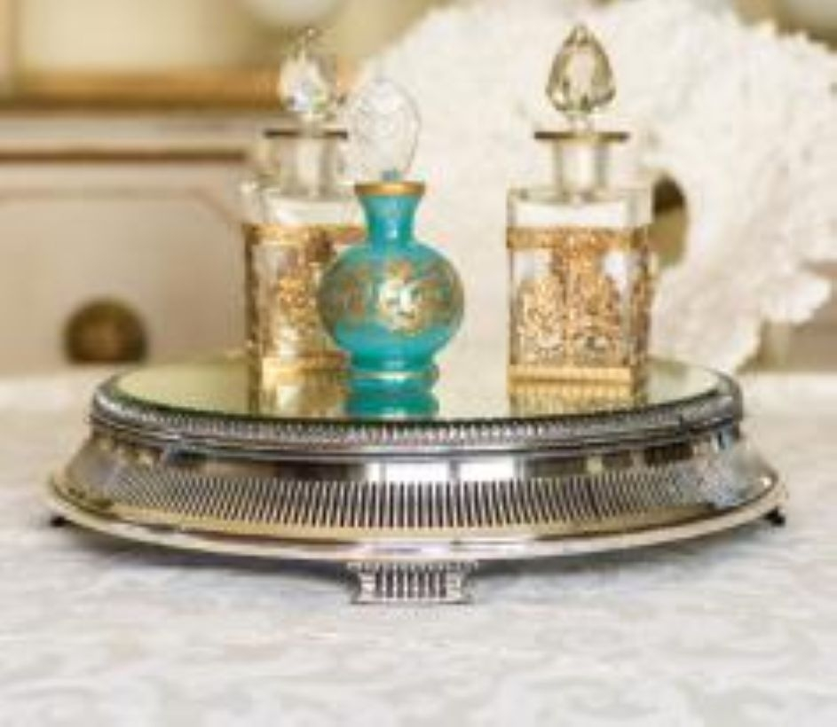 Easy diy footed vanity tray 12
