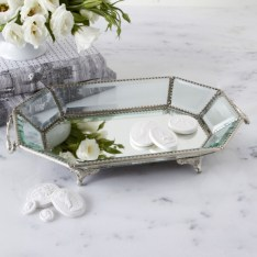 Easy diy footed vanity tray 13