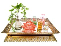 Easy diy footed vanity tray 19