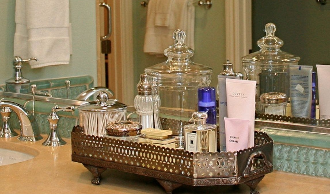 Easy diy footed vanity tray 25