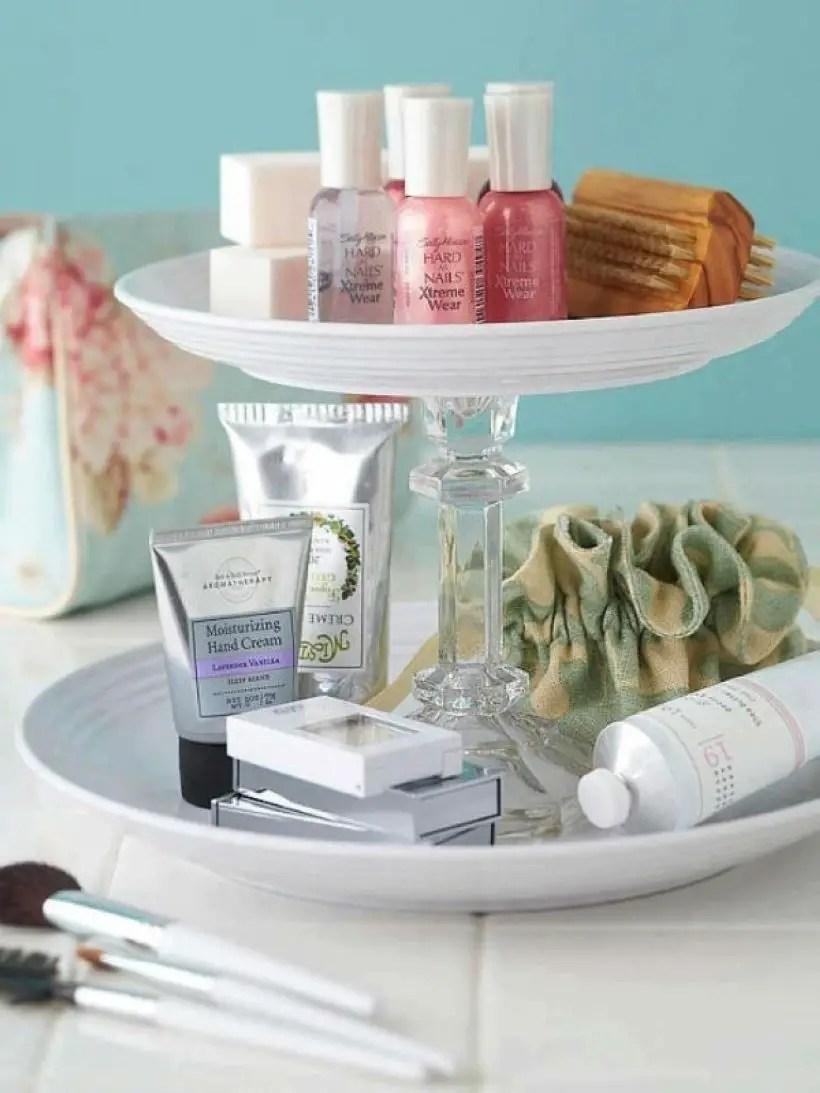 Easy diy footed vanity tray 26