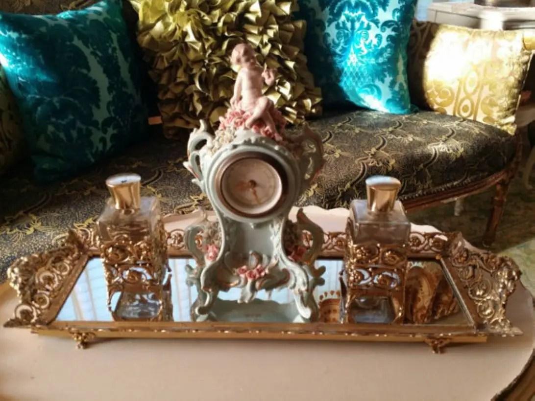 Easy diy footed vanity tray 28
