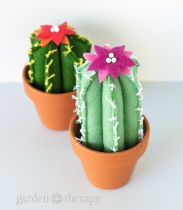 Faux cactus and succulent projects and ideas to decorate your home 35