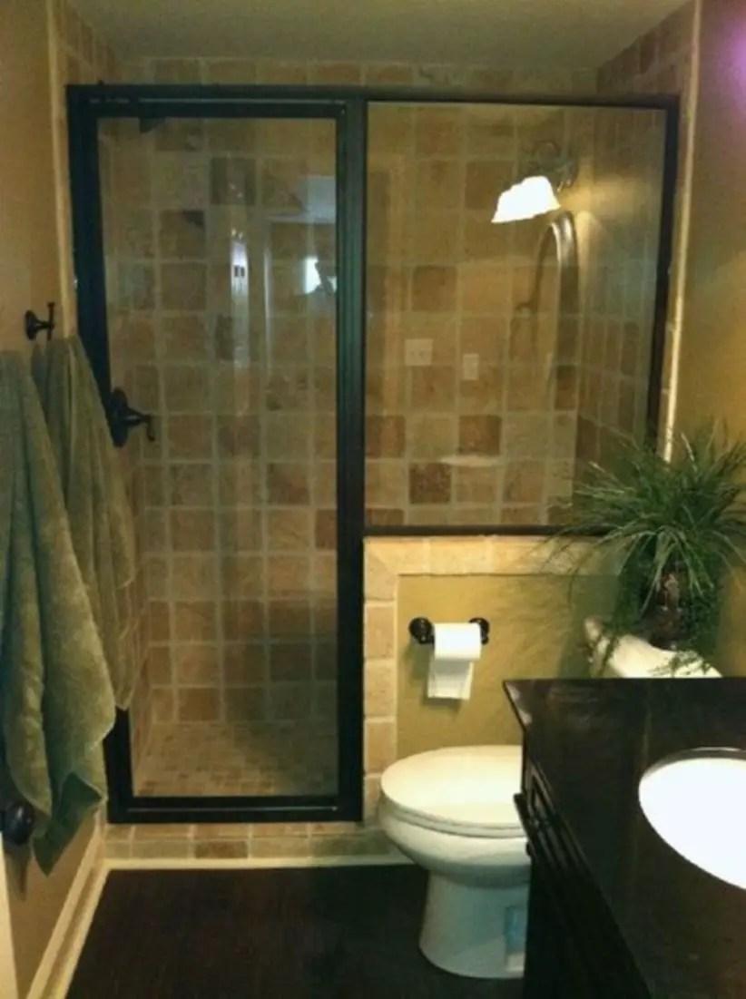 Half Wall Shower For Your Small Bathroom Design Ideas 31