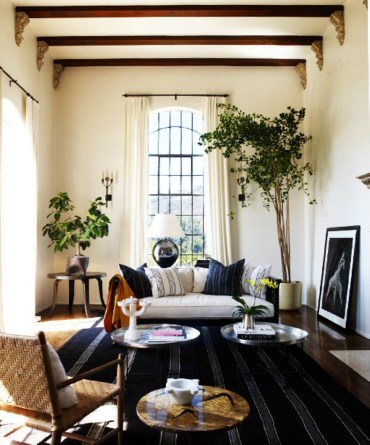 High ceilings accent wall with traditional and classic look 17