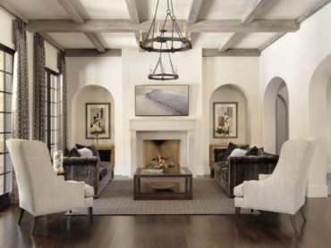 High ceilings accent wall with traditional and classic look 20