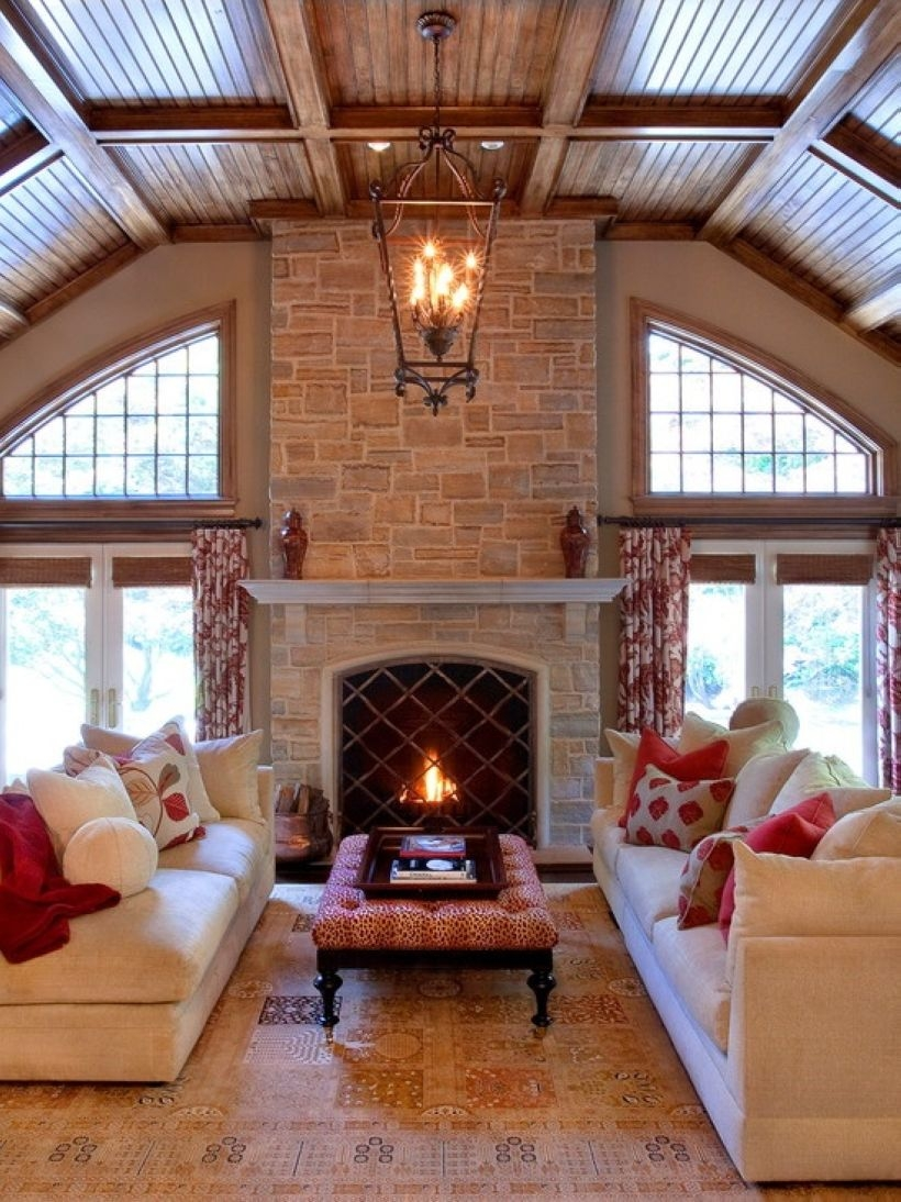 High ceilings accent wall with traditional and classic look 35