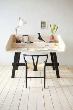 Neat and clean minimalist workspace design ideas for your home 04
