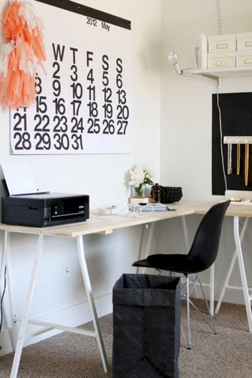Neat and clean minimalist workspace design ideas for your home 06