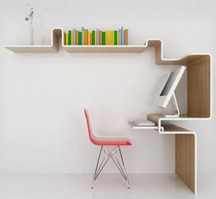 Neat and clean minimalist workspace design ideas for your home 07