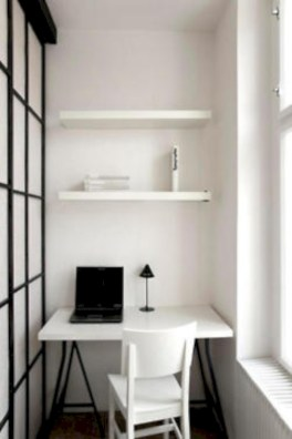 Neat and clean minimalist workspace design ideas for your home 15